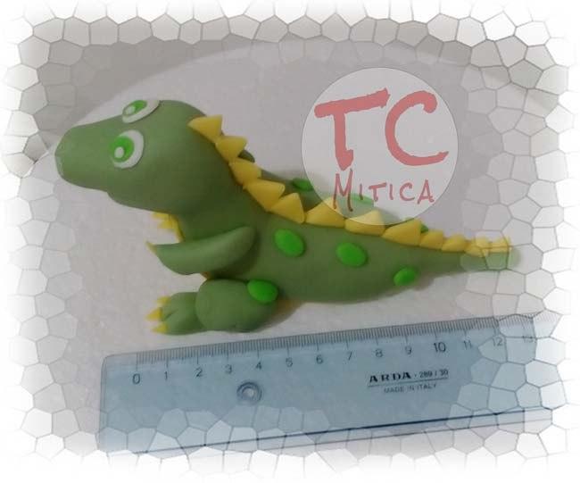 Stegosauro in pasta di Zucchero Cucciolo di Stegosauro versione cartoon