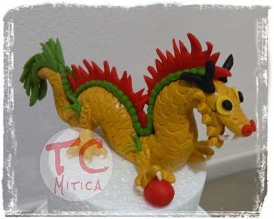 Piccolo Drago Cinese, Realizzato a mano per decorare Torte da MiticaTC