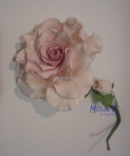 la 1. Rosa di MiticaTC in pasta di gomma
