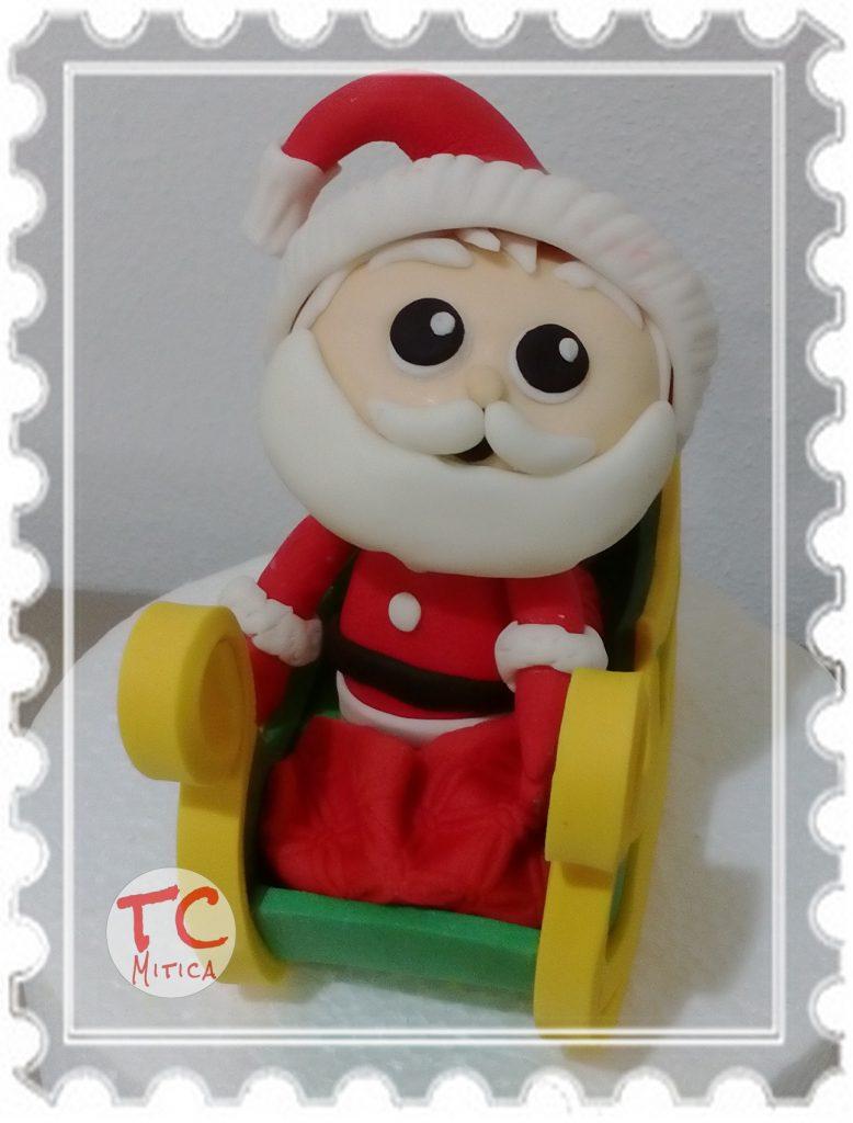 Babbo Natale su Slitta in pasta di zucchero