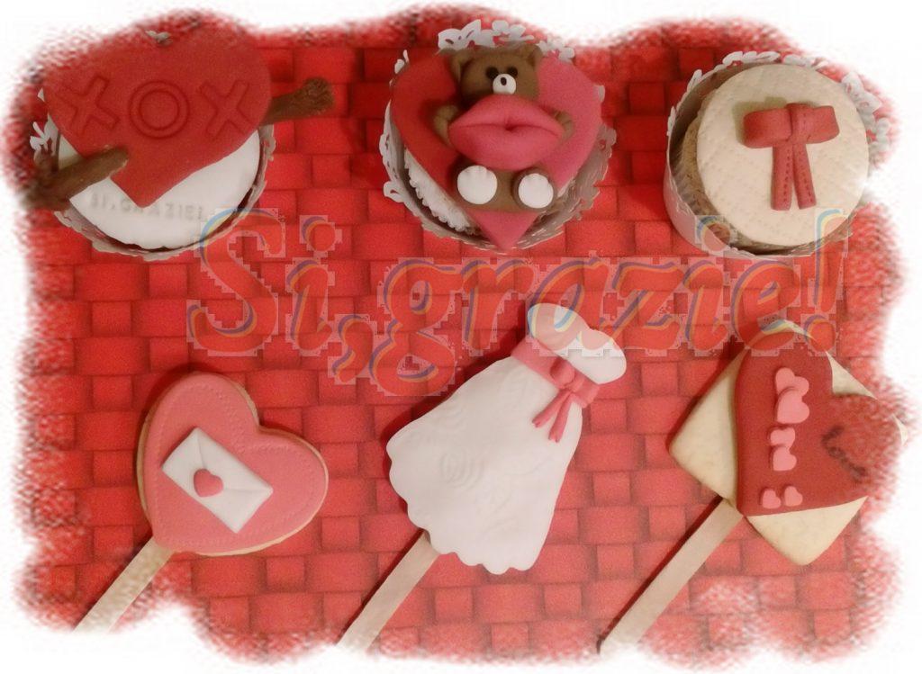 Segnaposto San Valentino in pasta di zucchero