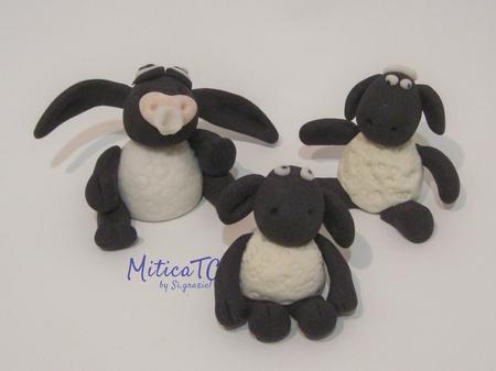 set pecorelle  da Shaun the Sheep