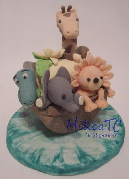 Torta finta Arca di Noè