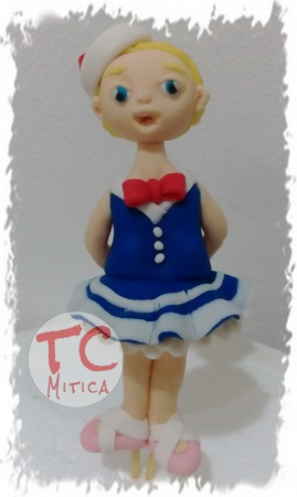Topper Ballerina in pasta di zucchero