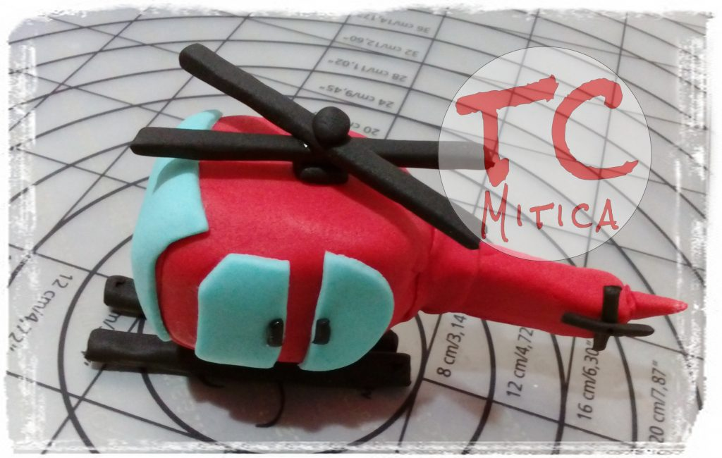 Topper Elicottero rosso
