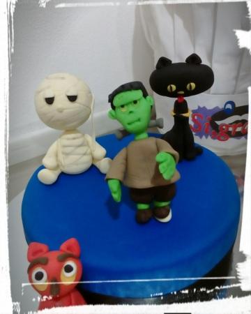 Set personaggi Halloween in pasta di zucchero