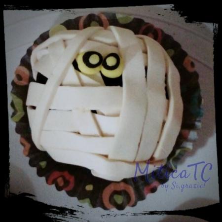Simpatica Mummia 2D  in pasta di zucchero