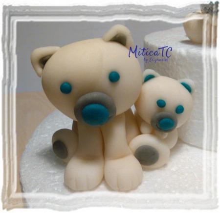 mini topper orsetti in pasta di zucchero