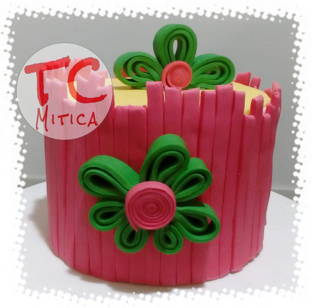 Quilling Cake con fiori