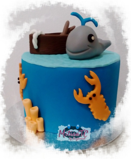 torta finta tema mare