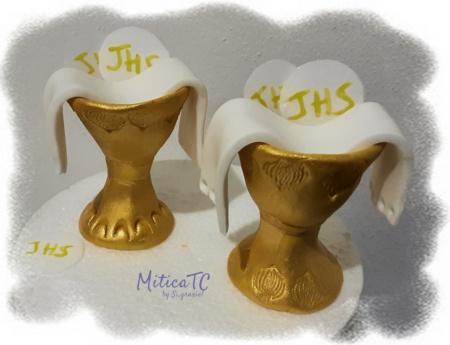 Calice dorato per torta 1. Comunione