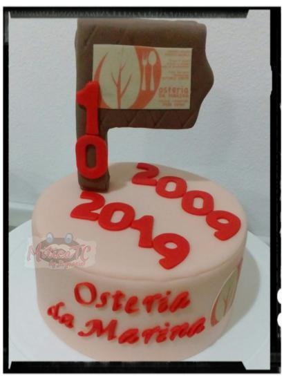 Topper 10. Anniversario Osteria da Marina