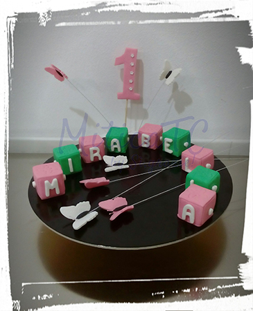 Set Cubi torta Primo compleanno
