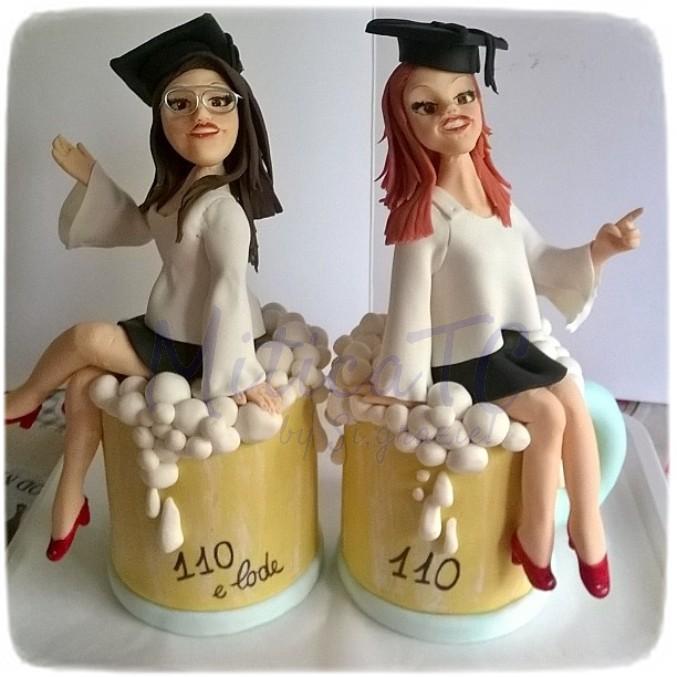 Topper personalizzato per amiche laureate
